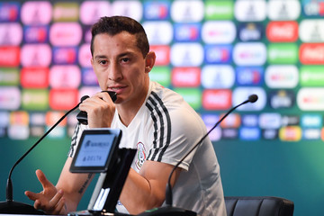 Andres Guardado Mexico Training And Press Conference - FIFA World Cup Russia 2018