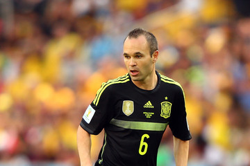 Andres Iniesta Australia v Spain: Group B - 2014 FIFA World Cup Brazil