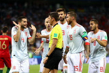 Andres Iniesta Gerard Pique Portugal Vs. Spain: Group B - 2018 FIFA World Cup Russia