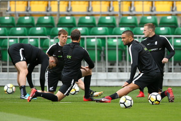 Andrew Durante Michael McGlinchey New Zealand All Whites Training Session