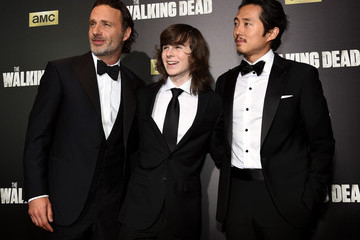 Andrew Lincoln Steven Yeun 'The Walking Dead' Season 6 Fan Premiere Event at Madison Square Garden 2015 - Arrivals