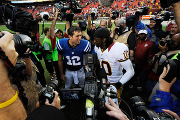 Andrew Luck Robert Griffin III Indianapolis Colts v Washington Redskins
