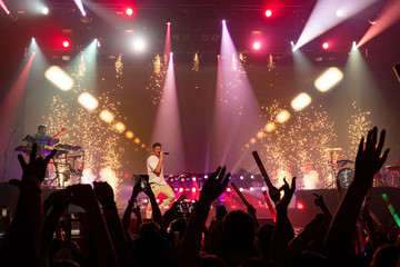 Andrew Taggart American Airlines And Mastercard Present The Chainsmokers At The Wiltern In Los Angeles