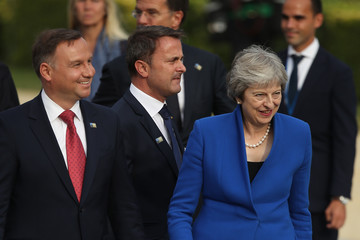 Andrzej Duda World Leaders Meet For NATO Summit In Brussels