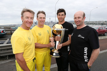 Andy Bichel Cricket World Cup: 100 Days to Go Celebration
