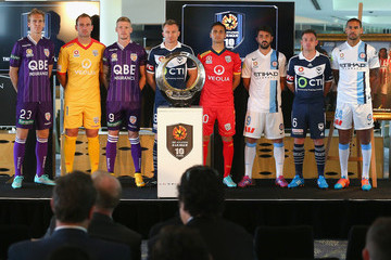 Andy Keogh Patrick Kisnorbo A-League Season Launch