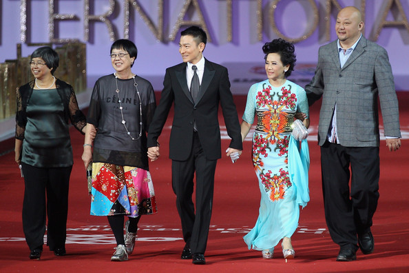2nd Beijing International Film Festival - Opening Ceremony [ceremony,event,wedding,wedding reception,fashion,marriage,party,suit,formal wear,carpet,ann hui,deanie ip,andy lau,red carpet,2nd right,hong kong,china national convention center,center,left,beijing international film festival - opening ceremony]
