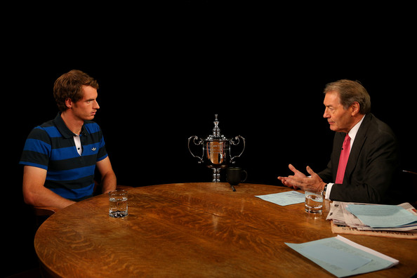 2012 US Open Champion Andy Murray - New York City Trophy Tour [conversation,event,interaction,table,meeting,collaboration,public speaking,andy murray,part,new york city,great britain,central park,2012 us open,trophy tour,trophy tour,interview,victory]