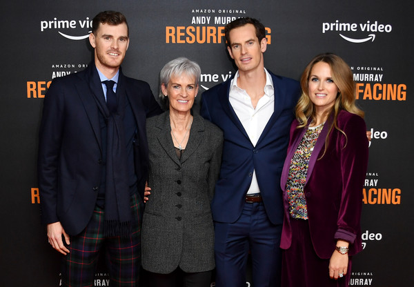 'Andy Murray: Resurfacing' World Premiere - Red Carpet Arrivals [andy murray: resurfacing world premiere,premiere,event,suit,brand,performance,andy murray,jamie murray,judy murray,kim sears,england,london,red carpet arrivals,curzon bloomsbury,world premiere]