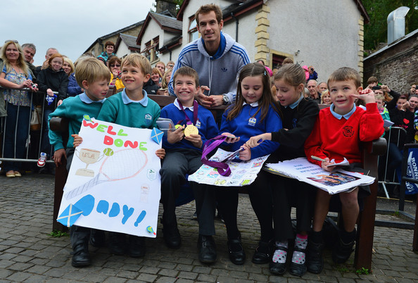 Andy Murray Returns To Dunblane []