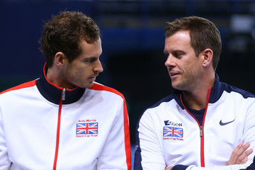 Andy Murray Leon Smith Great Britain v Japan - Davis Cup: Previews