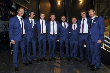 Andy Murray Leon Smith Belgium v Great Britain: Davis Cup Final 2015 - Day Three