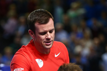 Andy Murray Leon Smith Great Britain v Japan - Davis Cup: Day Three