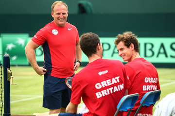 Andy Murray Great Britain v France - Davis Cup: Previews