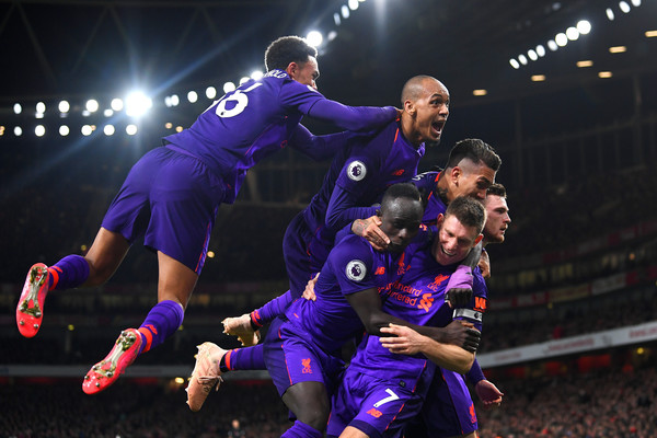 European Best Pictures Of The Day - November 04, 2018 [best pictures of the day,player,football player,sports,team sport,games,ball game,team,soccer player,tournament,sport venue,james milner,andy robertson,fabinho,roberto firmino,sadio mane,goal,sides,european,liverpool]