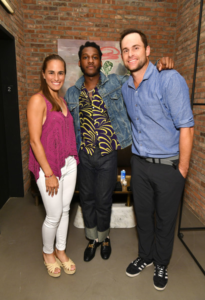 Andy Roddick, Monica Puig, And Leon Bridges At 'Legends, Unmatched' Event [leon bridges excite the crowd with an epic table tennis match and performance,fashion,event,footwear,fashion design,andy roddick,monica puig,crowd,legends,leon bridges,ihg hotels resorts ``legends unmatched,kimpton hotel eventi,event,event]