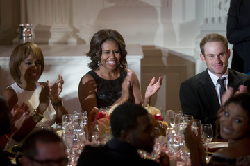 Andy Roddick Barack Obama and the First Lady Host a Celebration