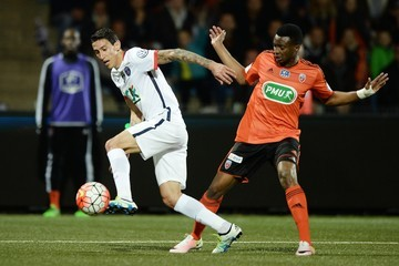 Angel Di Maria Lorient v Paris Saint-Germain - French Cup