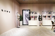 "View of products on display as Angel Sara Sampaio & designer Lisa Chavy introduce ""LIVY"" at Victoria's Secret, Fifth Ave on February 12, 2019 in New York City."