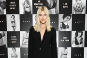 "Devon Windsor attends as Angel Sara Sampaio & designer Lisa Chavy introduce ""LIVY"" at Landmarc, West Broadway on February 12, 2019 in New York City."