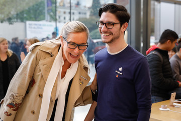 Angela Ahrendts Apple's New iPhone X Goes on Sale in Stores