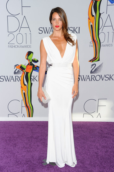 2011 CFDA Fashion Awards - Arrivals [red carpet,dress,clothing,shoulder,carpet,gown,fashion,flooring,neck,fashion model,arrivals,angela bellotte,alice tully hall,new york city,lincoln center,cfda fashion awards]