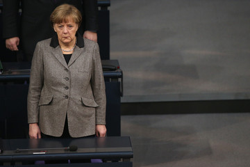 Angela Merkel Germany Mourns The Death Of Those Who Died On The Germanwings Airbus