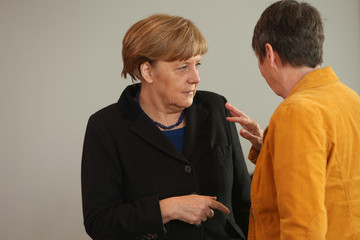 Angela Merkel Weekly Government Cabinet Meeting