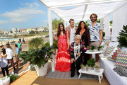(L-R) Teresa Maccapani Missoni, Giacomo Missoni, Rosita Missoni, Angela Missoni and Francesco Maccapani Missoni pose during a launch for the two-storey high 'Missoni for Target' deck chair on the Bondi foreshore on October 6, 2014 in Sydney, Australia. Angela Missoni and family have arrived in Australia to launch the 'Missoni for Target' collaboration on October 8.