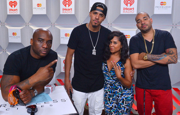 9310f7008d12a Angela Yee and Jermaine Lamarr Cole Photos Photos - Backstage at the ...