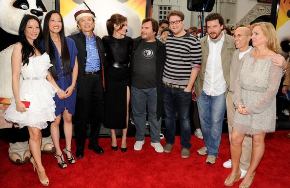 """Premiere Of DreamWorks Animation's """"Kung Fu Panda 2"""" - Red Carpet in Hollywood, CA [kung fu panda 2,red carpet,carpet,event,premiere,flooring,dress,jennifer yuh nelson,lucy liu,melissa cobb,ceo,actors,l-r,dreamworks animation,red carpet,premiere]"""