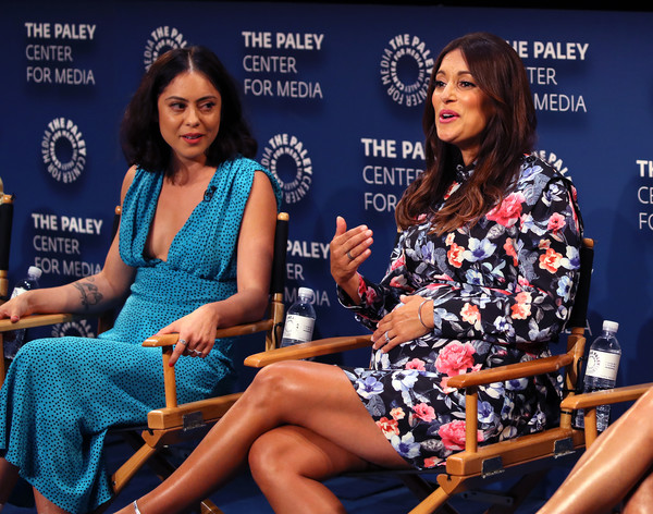 The Paley Center For Media's 2019 PaleyFest Fall TV Previews - Amazon - Inside [paleyfest fall tv previews - amazon - inside,news conference,sitting,fashion,event,thigh,leg,talent show,leisure,competition,spokesperson,angelique cabral,rosa salazar,stage,the paley center for media,beverly hills,california,paley center for media,l,amazon]
