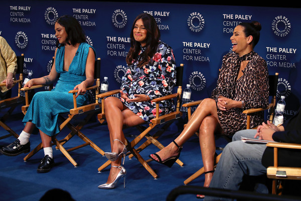 The Paley Center For Media's 2019 PaleyFest Fall TV Previews - Amazon - Inside [paleyfest fall tv previews - amazon - inside,event,fashion,performance,news conference,talent show,sitting,convention,constance marie,angelique cabral,rosa salazar,stage,l-r,the paley center for media,california,beverly hills,paley center for media]