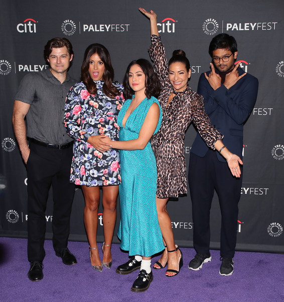 The Paley Center For Media's 2019 PaleyFest Fall TV Previews - Amazon - Arrivals [paleyfest fall tv previews,event,fashion,premiere,award,talent show,flooring,dress,carpet,performance,fashion accessory,arrivals,constance marie,siddharth dhananjay,angelique cabral,kevin bigley,rosa salazar,l-r,paley center for media,amazon]