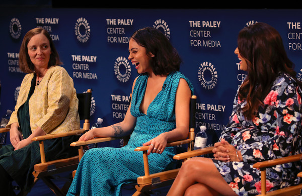 The Paley Center For Media's 2019 PaleyFest Fall TV Previews - Amazon - Inside [paleyfest fall tv previews - amazon - inside,event,news conference,performance,talent show,convention,conversation,sitting,leisure,games,angelique cabral,rosa salazar,kate purdy,stage,l-r,the paley center for media,california,beverly hills,paley center for media]