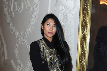 Anggun Front Row at the Jean Paul Gaultier Show