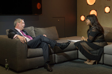 Angie Greaves Nigel Farage Visits Bauer Radio