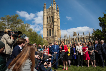 Angus Robertson Nicola Sturgeon Is Joined by SNP Westminster Colleagues