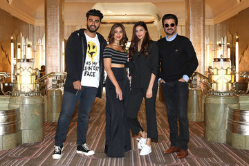 Anil Kapoor Photocall With Bollywood Star Anil Kapoor and Cast of 'Mubarakan'