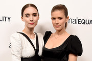 Actors Rooney Mara and Kate Mara arrive at the Animal Equality's Inspiring Global Action Los Angeles Gala at The Beverly Hilton Hotel on October 27, 2018 in Beverly Hills, California.