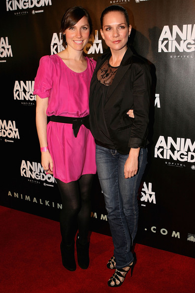 "Angela Johnson and Michala Banas arrive at the premiere of ""Animal Kingdom"" at Hoyts Melbourne Central on May 24, 2010 in Melbourne, Australia."