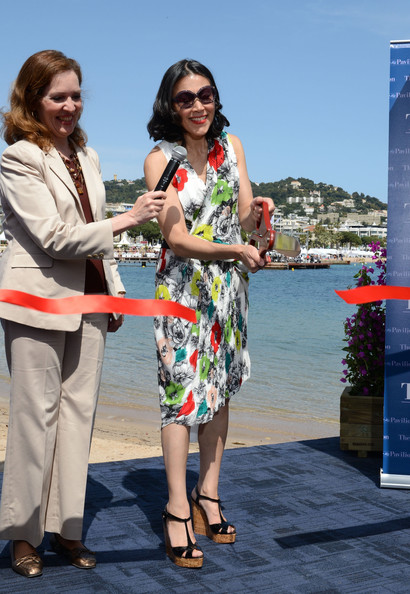 American Pavillion Opening - 65th Annual Cannes Film Festival [today show,eyewear,fashion,yellow,tourism,fun,summer,vacation,footwear,event,leisure,ann curry,diane e. kelly,us,cannes,france,american pavillion opening,cannes film festival]