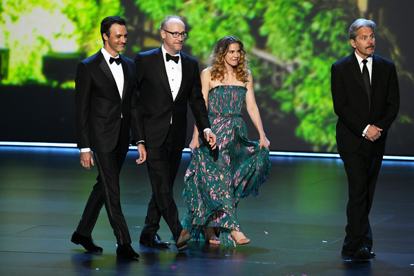 71st Emmy Awards - Show [suit,green,event,formal wear,fashion,tuxedo,dress,fun,performance,dance,california,los angeles,microsoft theater,show,emmy awards,matt walsh,reid scott,gary cole,anna chlumsky]