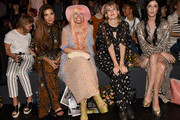 Negin Mirsalehi, Fashion Designer Andrea Diodati, Tennessee Thomas and  Sarah Sophie Flicker attends Anna Sui Spring 2016 during New York Fashion Week: The Shows at The Arc, Skylight at Moynihan Station on September 16, 2015 in New York City.