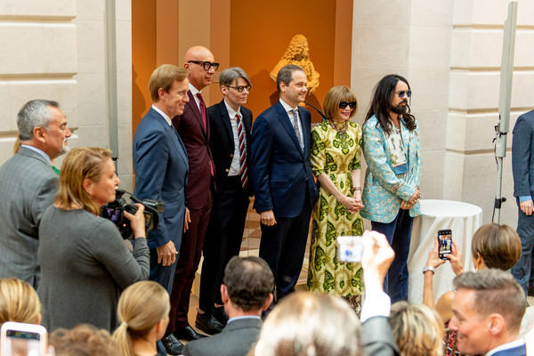 The 2019 Met Gala Celebrating Camp: Notes On Fashion - Press Preview [event,community,adaptation,crowd,ceremony,audience,lunch,conversation,house,employment,met gala celebrating camp: notes on fashion - press preview,new york city,metropolitan museum of art,alessandro michele,andrew bolton,anna wintour]