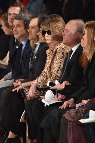 Ralph Lauren - Front Row - Fall 2016 New York Fashion Week: The Shows [shows,event,fashion,suit,audience,andrew lauren,ralph lauren,grace coddington,editor-in-chief,front row,marketing,vogue,new york fashion week,the shows]