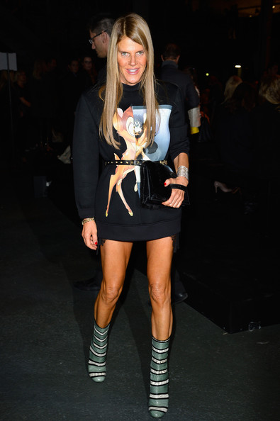 Anna dello Russo - Givenchy  : Front Row - Paris Fashion Week Womenswear  Spring/Summer 2014