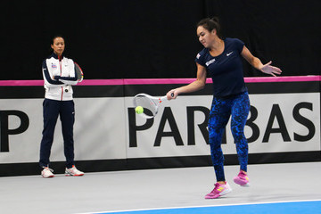 Anne Keothavong Great Britain v Turkey - Fed Cup