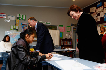Anne Tolley John Key Visits Clendon Teen Parent Unit in Auckland