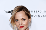 Mena Suvari arrives at the Annenberg Space For Photography's W|ALL's: Defend, Divide And The Divine Exhibit Opening at the Annenberg Space For Photography on October 03, 2019 in Century City, California.